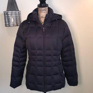 Calvin Klein down filled puffer coat in plum
